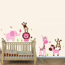 sweet animal jungle nursery wall decal removable wall sticker large size of baby nursery pink jungle animal nursery wall decal removable wall sticker vinyl