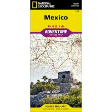 Mexico Toll Road Map by Mexico Adventure Map National Geographic Store