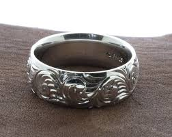 hand engraved rings images Mens western wedding rings hand engraved ring custom couples etsy jpg