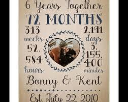 6th wedding anniversary gift 6th anniversary gift etsy