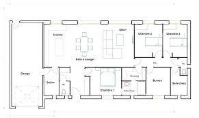 plan maison 100m2 3 chambres plan maison plain pied 3 chambres moderne home architecture