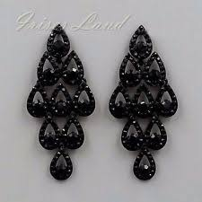 black earrings black chandelier earrings ebay