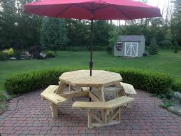 Build Your Own Round Wood Picnic Table by Exteriors Hexagon Picnic Table Kit Plastic Picnic Tables Build