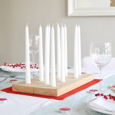 candle centerpiece make a woodblock candle centerpiece