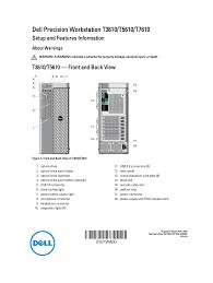 Dell Diagnostic Lights Dell Precision T5610 Late 2013 User Manual 6 Pages