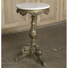 antique marble top pedestal table 19th century giltwood baroque marble top l table inessa