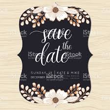 Wedding Invitation Card With Photo Save The Date Wedding Invitation Card Template With Flower