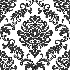 Easy Apply Wallpaper by Ariel Black And White Damask Peel And Stick Wallpaper Wallpaper
