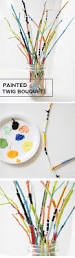 painted twig bouquet craft nature crafts and activities