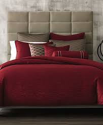 hotel collection woven texture red bedding collection created for