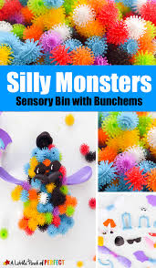 silly monsters halloween sensory play with bunchems