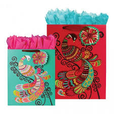 peacock collection gift bags wrapping paper box wrap