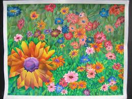 cubism flower painting practice of cubism flower field 2013 grace moon