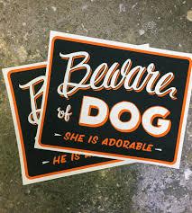 Dog Home Decor by Beware Of Dog Art Print Home Decor U0026 Lighting Bt Livermore