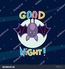 cute simple little caricature cartoon bat stock vector 375424876 cute simple little caricature cartoon bat hanging upside down good night card