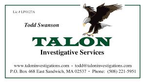 cape cod u0027s premier private investigator talon investigative services
