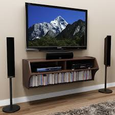 Modern Wall Mounted Entertainment Center Furniture Floating Tv Stand Entertainment Center Using Open Shelf