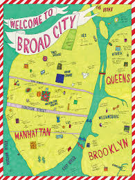 A Map Of New York City by Broad City Map Of New York Drawn By Abbi Jacobson Nyc