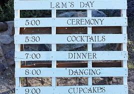 wedding program sign wood pallet program sign i do diys