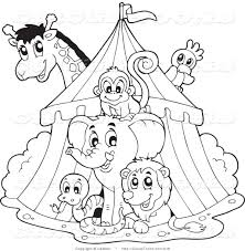 clip art black and white circus clipart of a black and white big