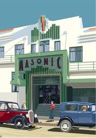 art deco print u201cnapier masonic hotel 1937 u201d