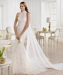 high neck wedding dresses neck lace mermaid wedding dress naf dresses