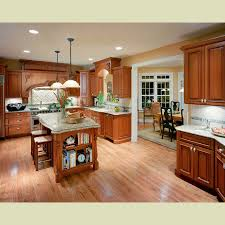 stunning rustic kitchen design with large island also square