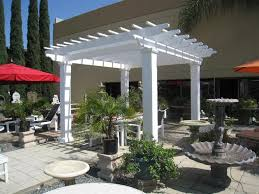 arbors direct white patio pergola 17x17 vl1717 on sale now