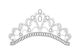 pretty tiara coloring page for girls printable free art pop