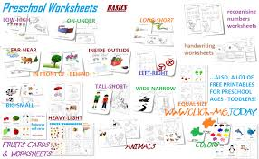 free printable preschool worksheets for toddlers
