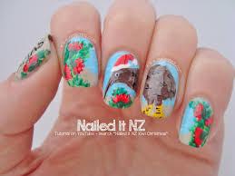 kiwi christmas nail art tutorial 12 days of christmas nail art