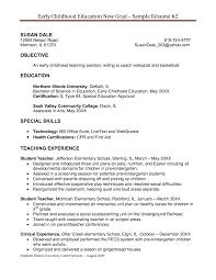 educational resume templates 78 images preschool teacher