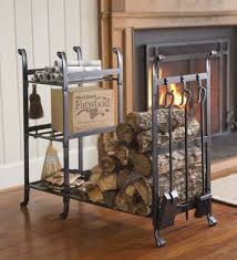 all in one wood rack with tools wood storage fancy fireplaces
