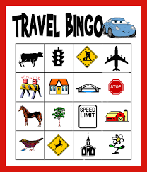 traveling games images Travel bingo vehicle bingo word search lots of ideas to keep jpg