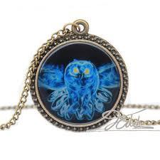 bottle necklace aliexpress images 1pcs vintage bird blue owl necklace pendants mystic strange jpg