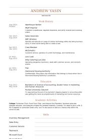 Laborer Resume Samples by Download Warehouse Sample Resume Haadyaooverbayresort Com