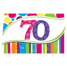 8ct bright and bold 70th birthday invitations target