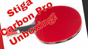 stiga pro carbon table tennis racket stiga carbon pro table tennis paddle unboxing easy spin and power