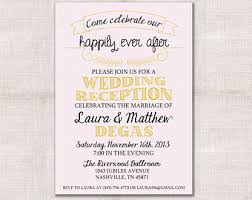 after the wedding party invitations wedding invitation party unique wedding reception celebration