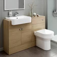 Wooden Vanity Units For Bathroom by Modern Oak U0026 White Bathroom Vanity Unit Basin Sink Furniture