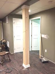 basement wrap furniture column wraps home depot awesome basement basement pole