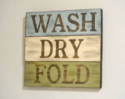 Laundry Room Signs Decor Wash Fold Sign Blue Laundry Room Decor Laundry Decor