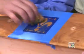 Minwax Water Based Stain With Minwax Water Based Wood Stain After by Easy Wood Stenciling With Water Based Stain From Minwax Youtube