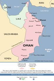 map of oman oman malaria map fit for travel