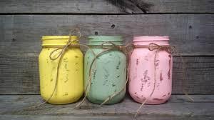 distressed pastel color easter mason jars easter decor rustic