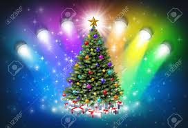 christmas spotlights christmas spotlights with rainbow colors as a festive magical