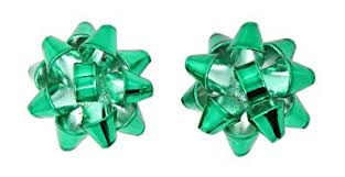 green gift bow metal gift bow stud earrings green jewelry