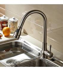 kitchen sink with faucet brushed nickel single handle pull out kitchen sink faucet 902 2
