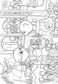 kids n fun com 17 coloring pages of calico critters