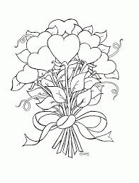 flowers print color kids coloring